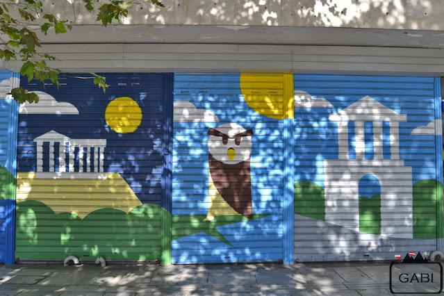 Ateny sztuka uliczna