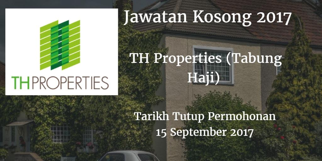 Jawatan Kosong TH Properties (Tabung Haji) 15 September 2017