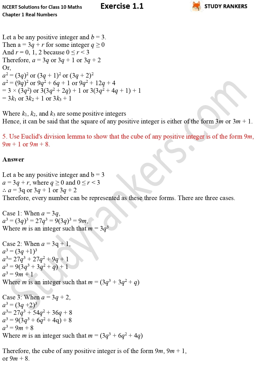 NCERT Solutions for Class 10 Maths Chapter 1 Real Numbers Exercise 1.1 3