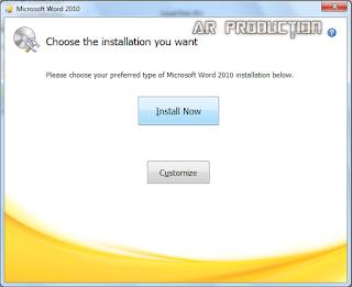 Instalasi Microsoft Office 2010 Tahap kelima