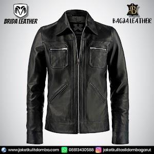 Jual Jaket Kulit Asli Garut Pria Domba Original Brida Leather B17   WA 08813430588