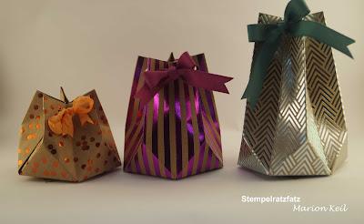 Sternenbox mit dem Stanz- und Falzbrett für Geschenktüten von Stampin´ Up!
