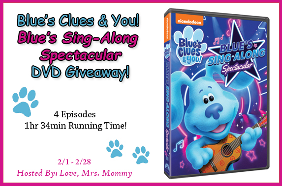 Blue's Clues Sing-Along Spectacular DVD Giveaway