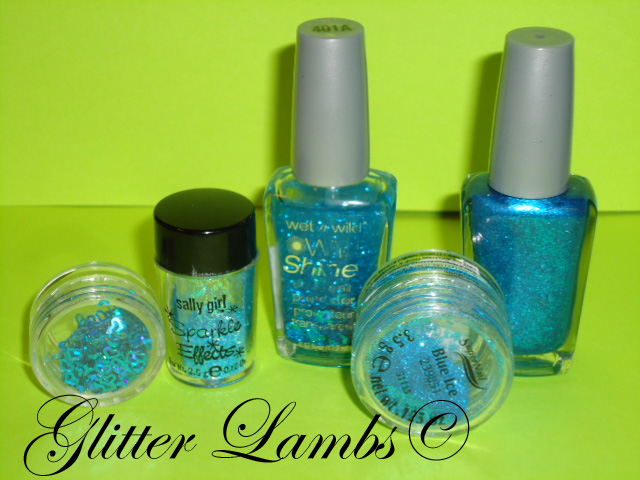 Glitter Lambs: How To Make Your Own Glitter Nail Polish- Blue ...