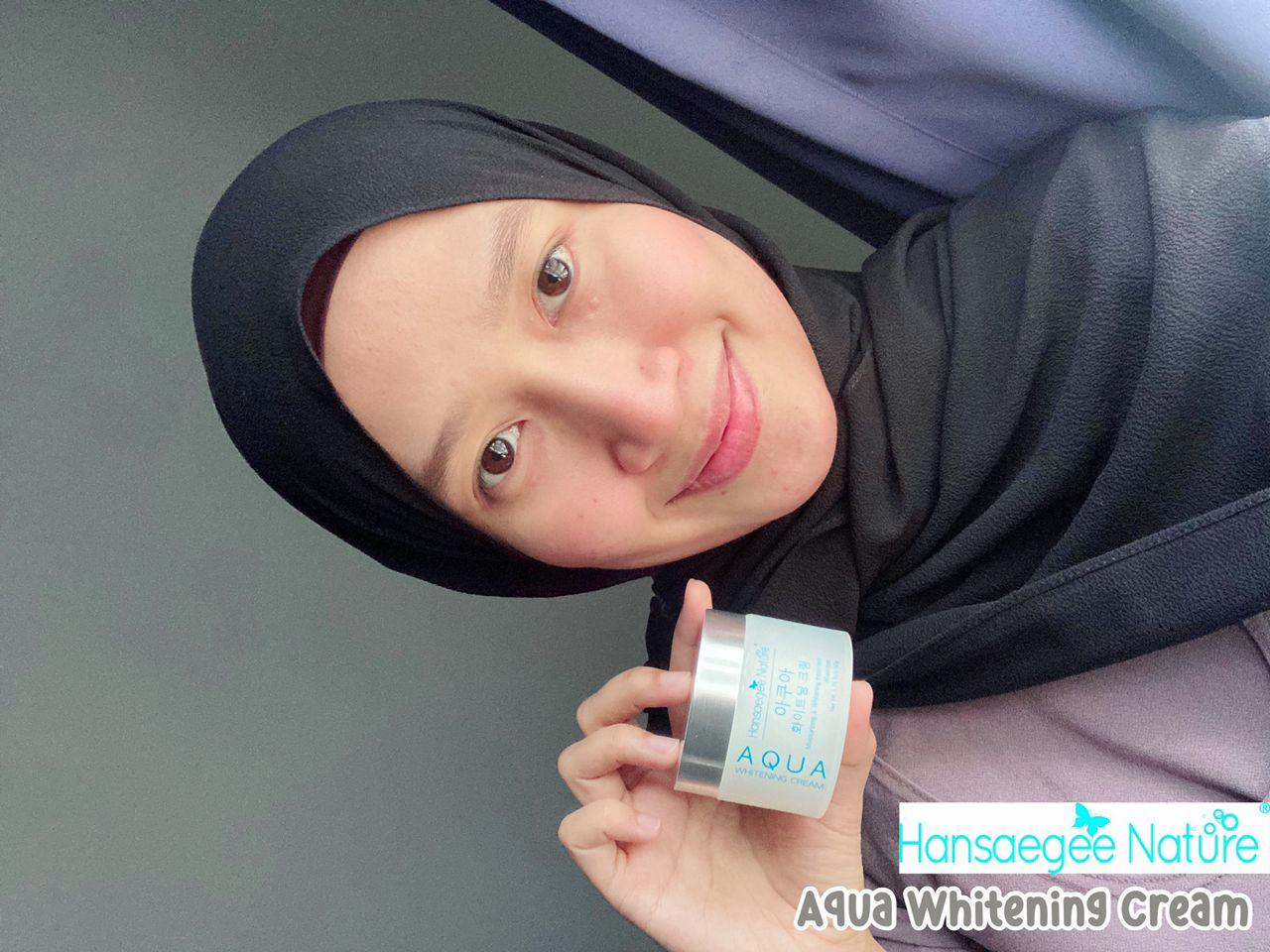 Hansaegee Nature Aqua Whitening Cream Review