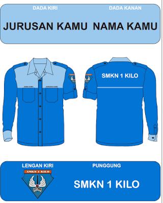 Kemeja Seragam/ PDL/ PDH/ Korsa SMK Bisa