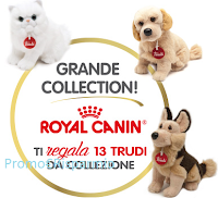 Logo RoyalCanin raccolta punti: richiedi buoni sconto o peluche Trudi