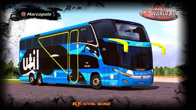 PARADISO G7 1800 DD 6X2 - VIAÇÃO UTIL BALEIA