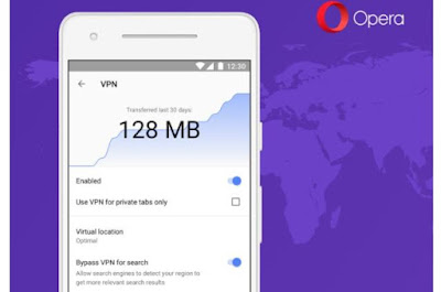 Opera Browser For Android Gets In-Built Free VPN