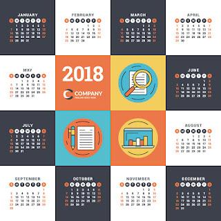 2018カレンダー無料テンプレート020