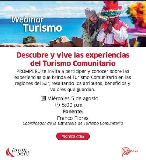 Webinar: Turismo Rutal Comunitario - SUR   organiza PROMPERÚ