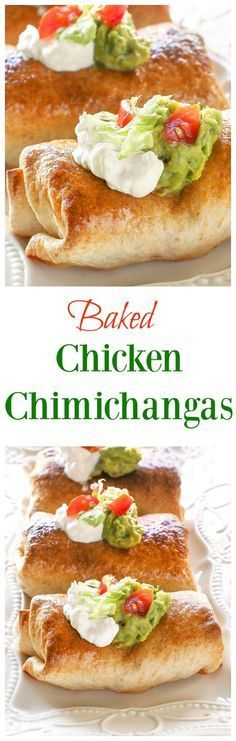 BREATHTAKING BAKED CHICKEN CHIMICHANGAS