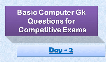 Computer Gk Questions Day2 2020