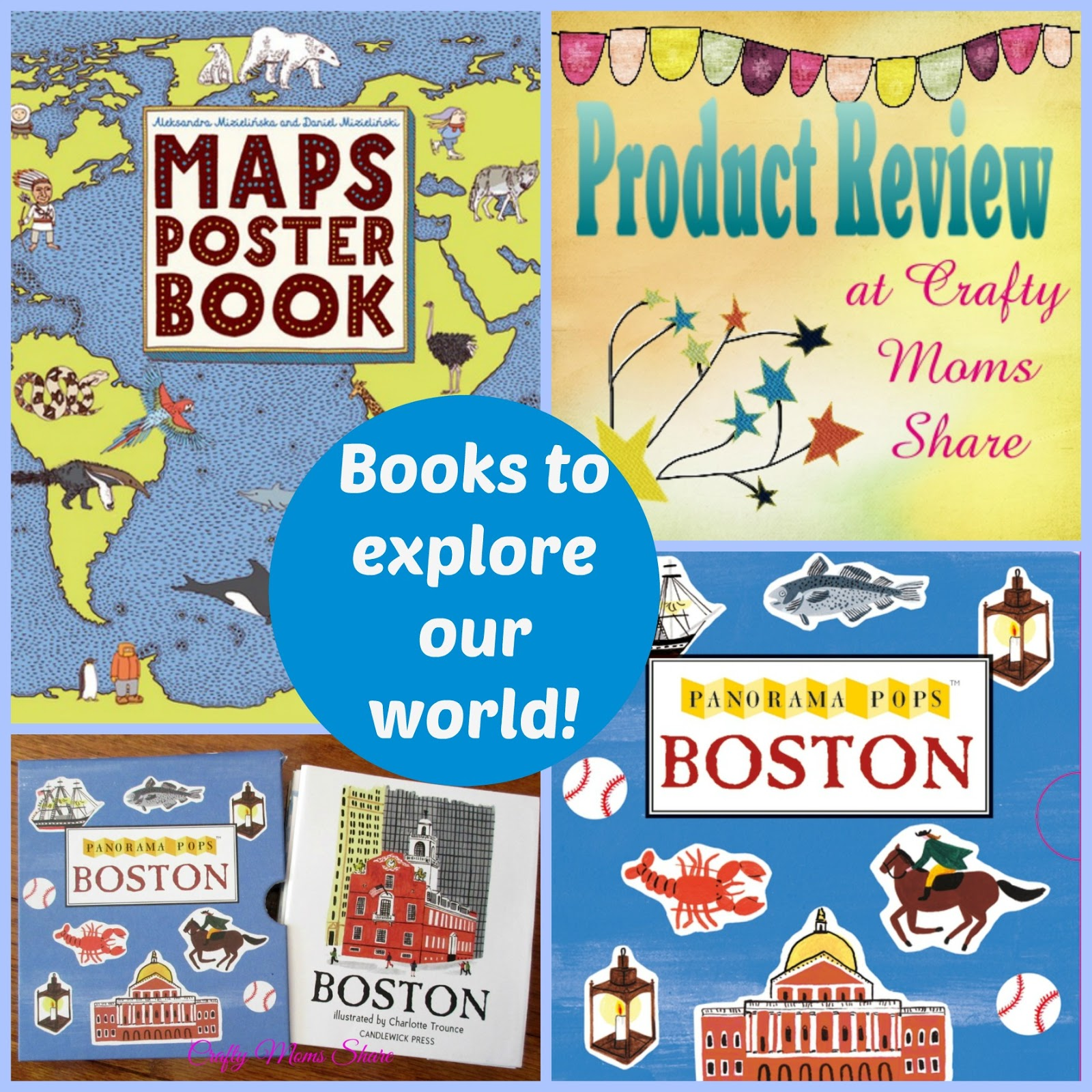Crafty Moms Share Books to Explore Our World Maps Poster Book