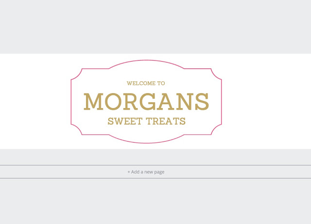 Customisation Tips For A Blogger Blog - Creating a Header Using Canva | Morgan's Milieu: A standard design with colours changed.