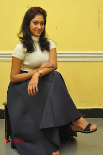 Telugu Actress Sindhu Affan Latest Pos in Black Skirt at Www.Meena Bazaar Movie Opening  0043.JPG