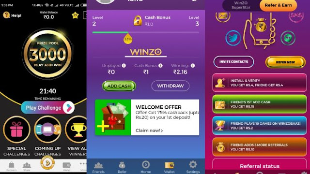 Earn Unlimited Paytm Money Playing Games [WinZO Gold]
