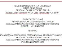 Contoh SK Bendahara Pembangunan Rehab Sekolah