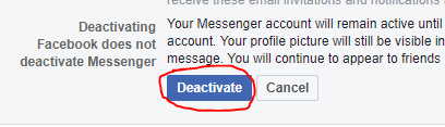 How to deactivate Facebook Account-- deactivate facebook account