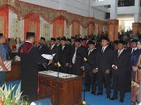 Anggota DPRD Pasbar Dilantik, Erianto Ketua Sementara