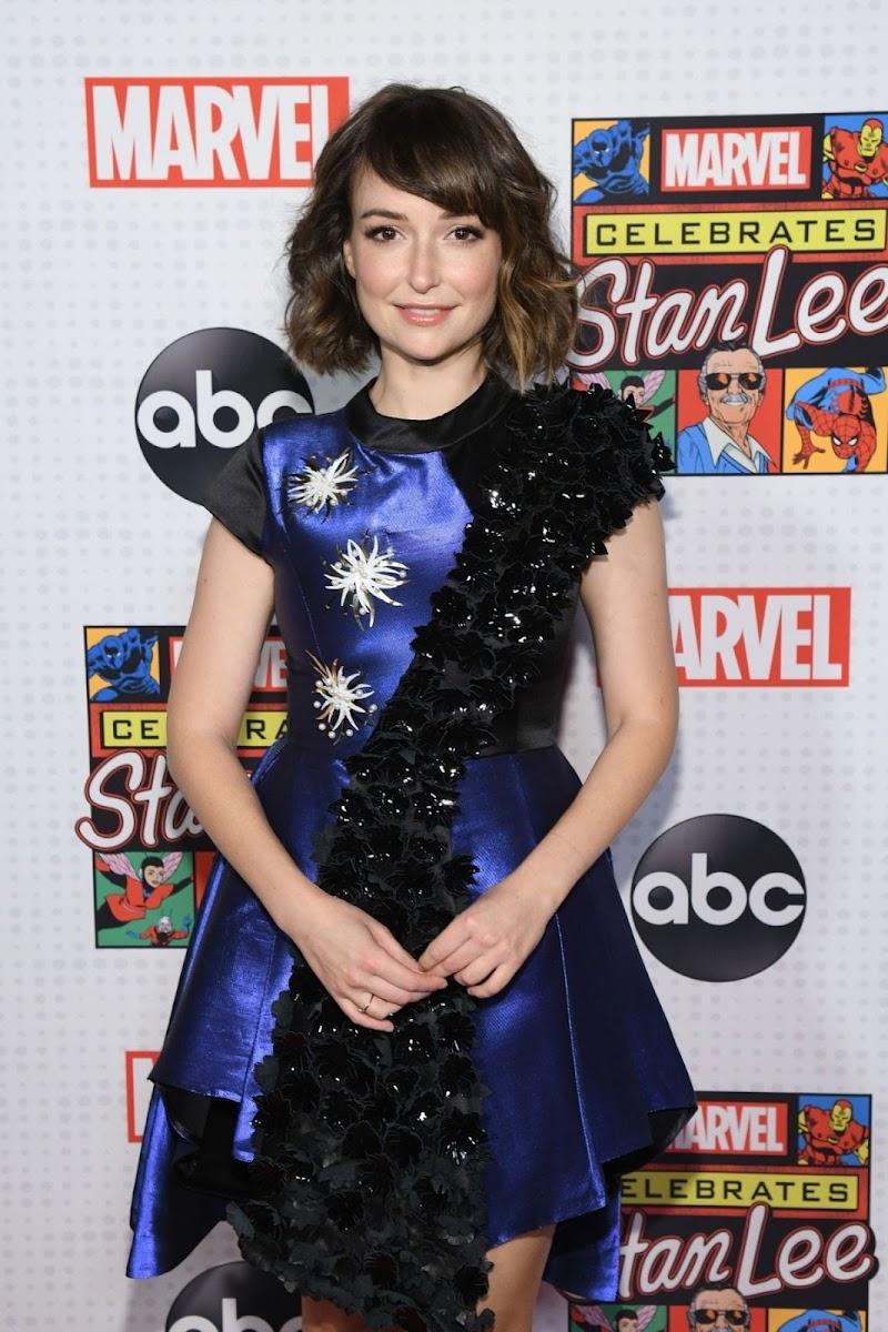 Milana Vayntrub Clicks at Marvel Celebrates Stan Lee in New york 12 Dec-2019