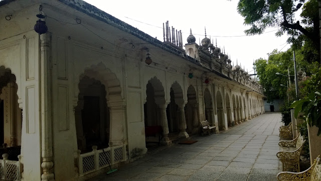 a full view of the paigah family tombs in hyderabad