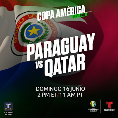 Live Paraguay vs Qatar Copa America 16.6.2019