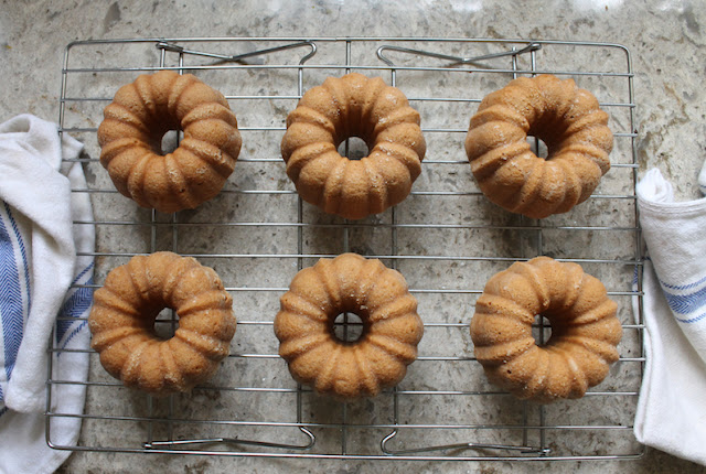 Food Lust People Love: With just four ingredients you can turn coffee ice cream into these delicious Coffee Ice Cream Bundtlettes. Or use your favorite flavor.