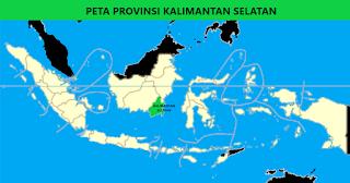 Peta Provinsi Kalimantan Selatan