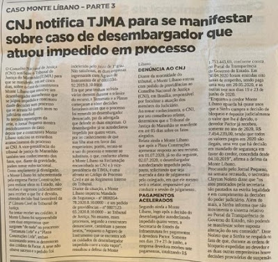 Por equívoco de leitura dos fatos advogado de empresa denuncia desembargador do TJMA injustamente