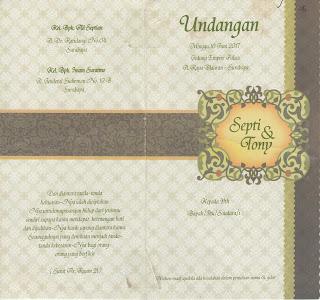 Cetak Undangan Pernikahan di Tasikmalaya RP 1000