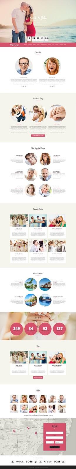 Responsive Wedding Site Template