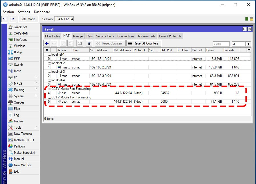 Remote Access DVR CCTV Server on Mikrotik from Local Network