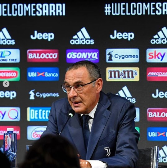 Ex-Chelsea coach Maurizio Sarri officially unveiled as new Juventus manager