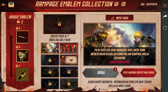 Cara Bermain Event Rampage Invitation Free Fire