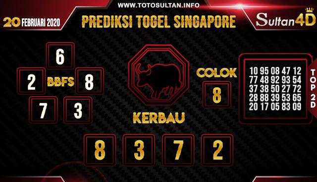 PREDIKSI TOGEL SINGAPORE SULTAN4D 20 FEBRUARI 2020