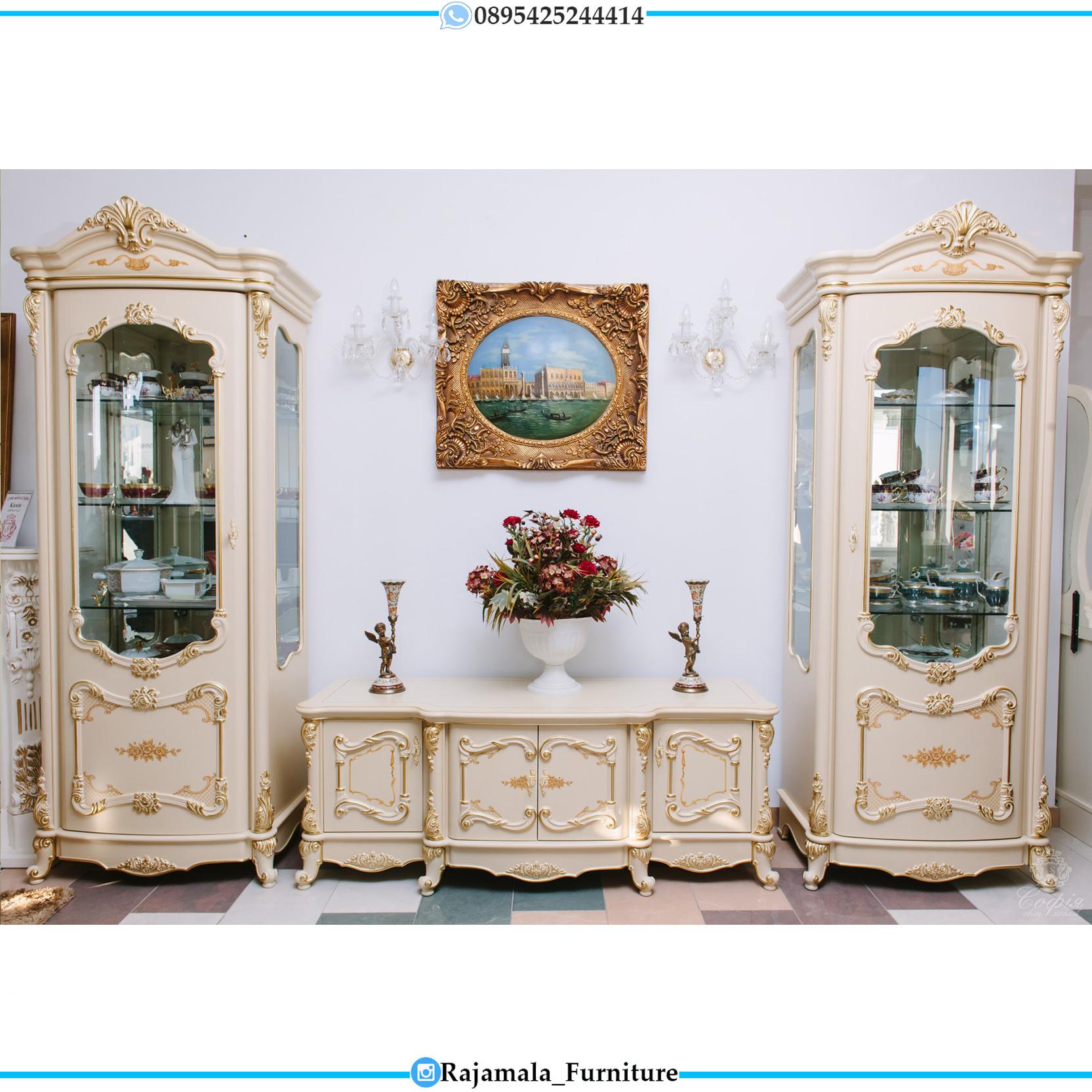 Harga Meja TV Mewah Set kir Jepara Luxury Classic RM-0104