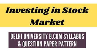 Delhi University  Question Paper Pattern