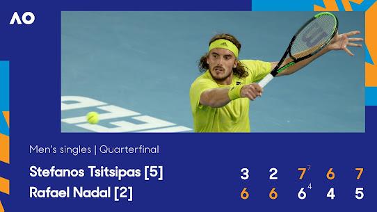 Tỷ số trận đấu tứ kết giữa Nadal và Tsitsipas