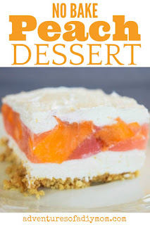 cold peach dessert
