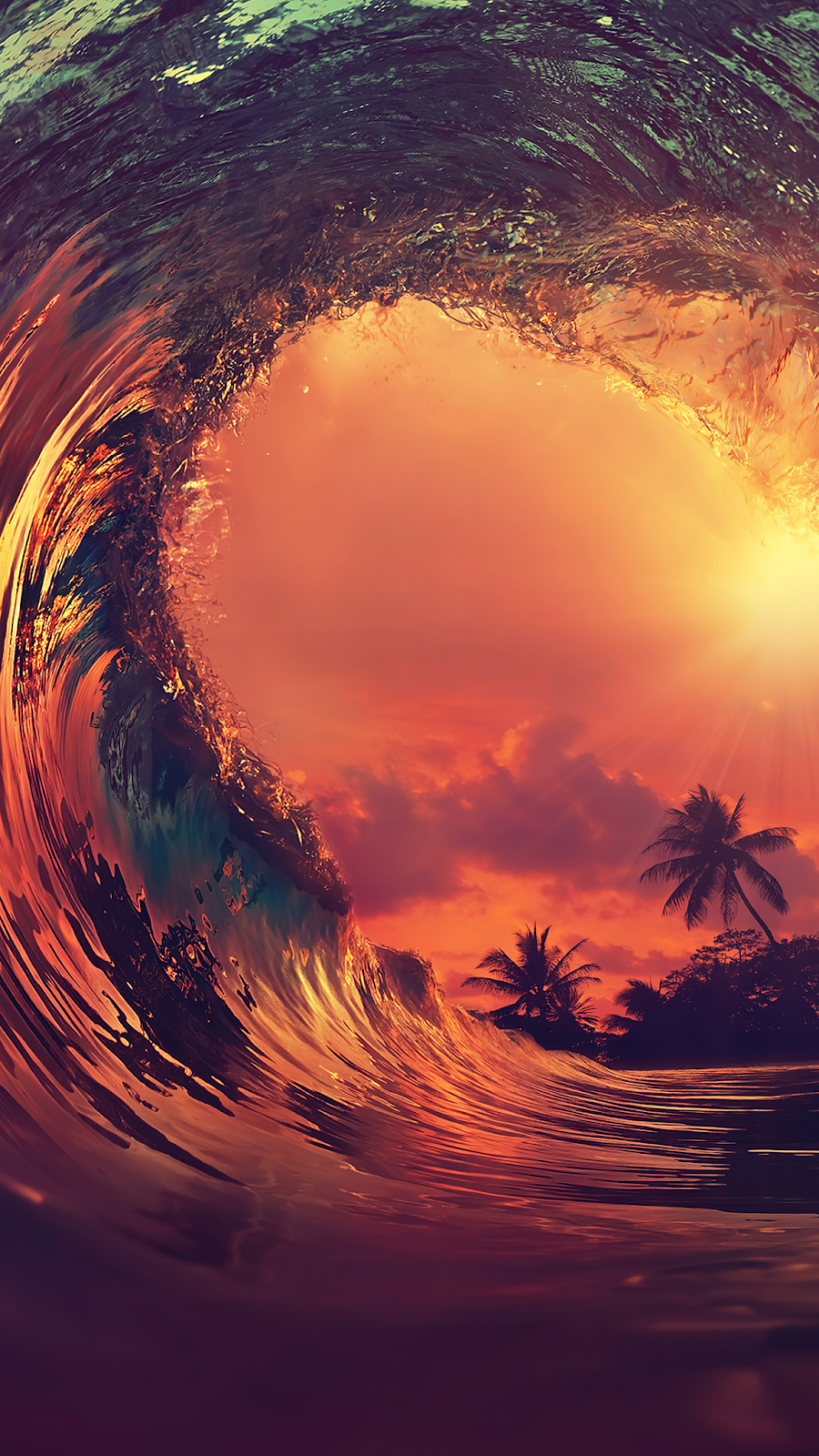 Tropical Break Wave mobile wallpaper