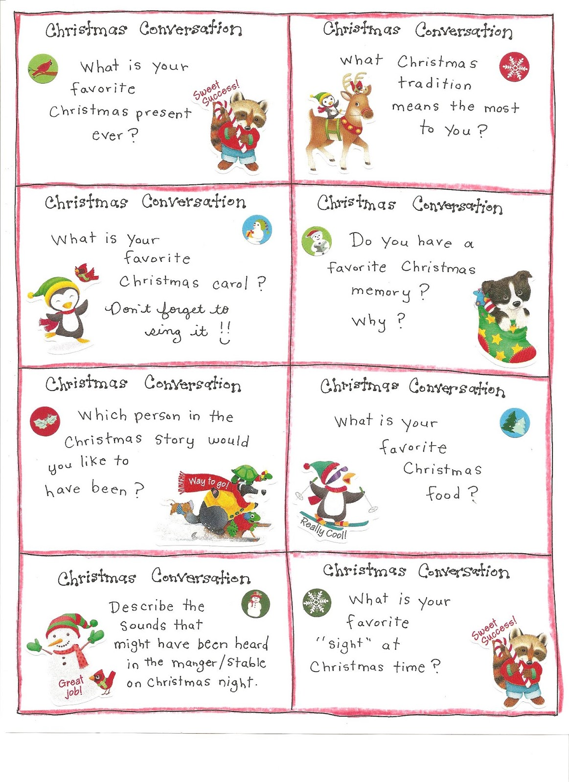 Kindergarten And Mooneyisms Christmas Conversation