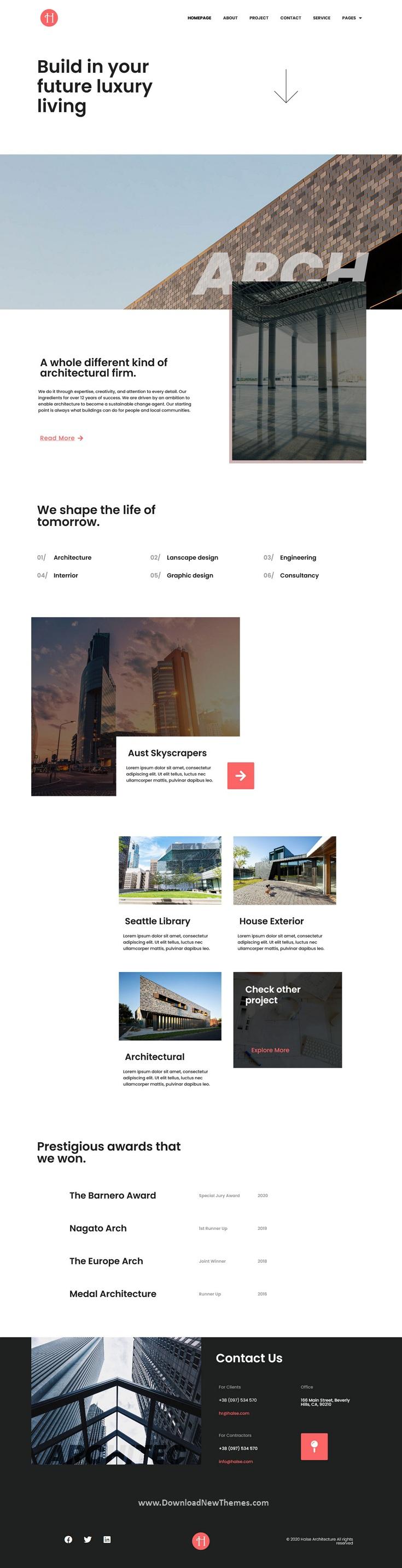 Architecture & Interior Design Elementor Template Kit