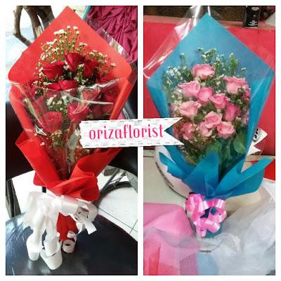 toko bunga tangan surabaya, bunga mawar valentine surabaya