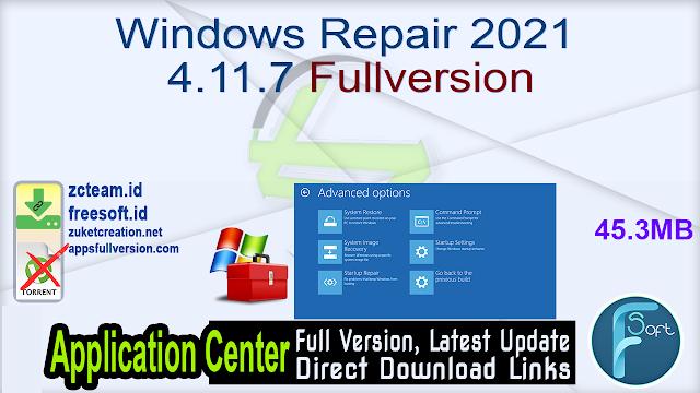 Windows Repair 2021 4.11.7 Fullversion