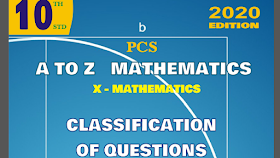 10TH MATHS CLASSIFICATION OF QUESTIONS