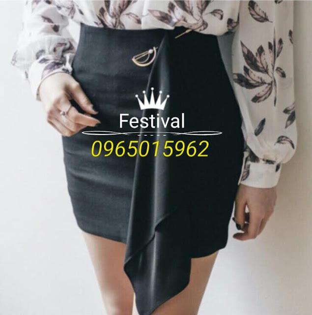 Set chân váy áo voan - F1007Mb - Ảnh 2