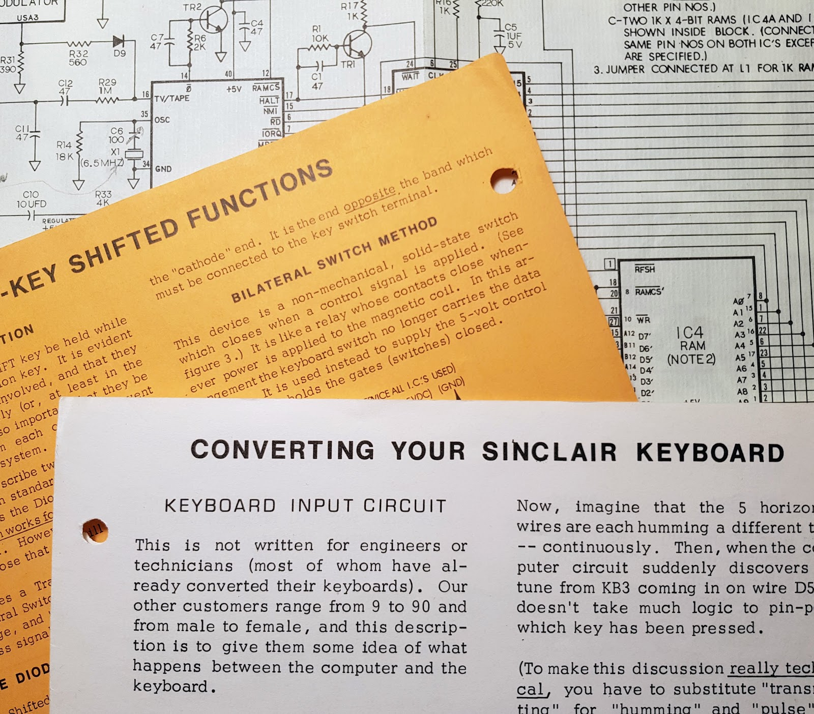 Zx81 Keyboard Adventure Circuit Diagram Converting Your Sinclair Loose Leaf Pages From A Great Little Text