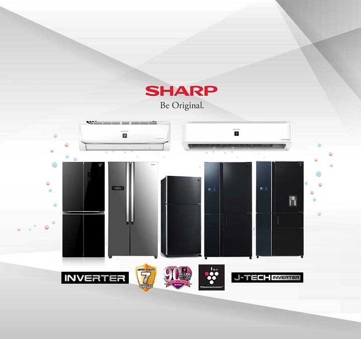 Sharp intros new line of J-Tech Inverter Refrigerators, Air Conditioners