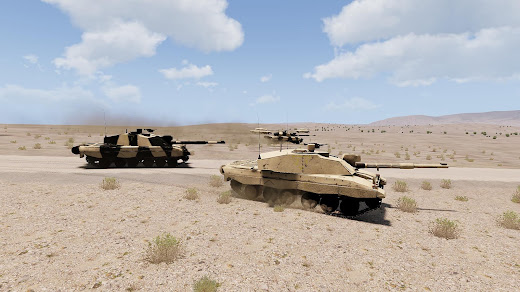 Arma3用CUP MODのChallenger 2主力戦車